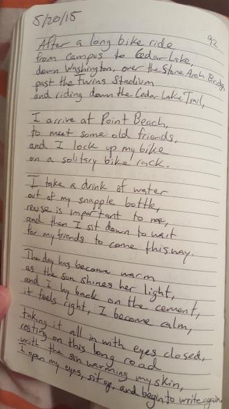 Cedar Lake Poem - Copy